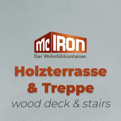 Holzterrasse & Treppe